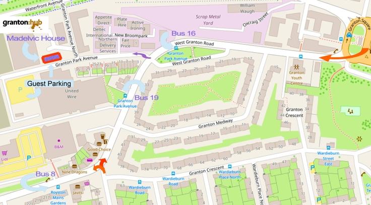 granton hub map