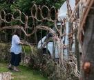 Janis weaving nest